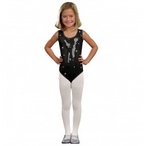 Kids Black Sequin Leotard - Small