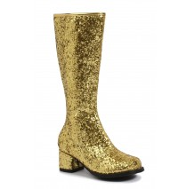 Kids Gold Glitter Gogo Boots - Small (11/12)