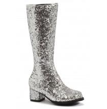 Kids Silver Glitter Gogo Boots - Small (11/12)