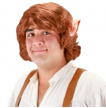 The Hobbit Bilbo Baggins Wig With Ears - One-Size