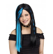 Kids Rave Blue Wig - One-Size