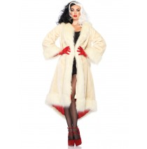 Disney Cruella Adult Coat - Small/Medium