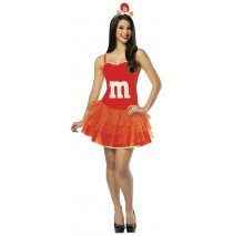 M&M's Red Adult Party Dress - Adult 4-10