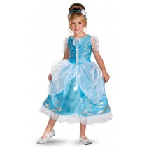 Disney Cinderella Deluxe Sparkle Toddler/Child Costume - Small (4-6x)
