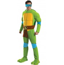 Teenage Mutant Ninja Turtles Deluxe Leonardo Adult Costume - Standard (One Size)