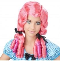 Coral & Magenta Doll Curls Wig