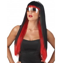 Black & Red Diva Glam Wig