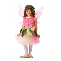 Deluxe Rose Fairy Child Costume - Small (4/6)