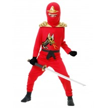 Red Ninja Avengers Series II Toddler/Child Costume - Medium (8/10)