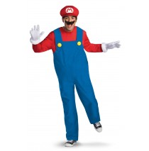Super Mario Brothers Mario Adult Plus Costume - Plus (50-52)