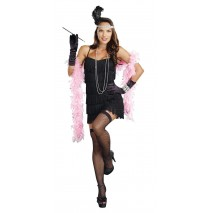 Black Flapper Plus Size Adult Costume - 1X/2X