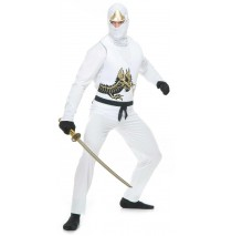 White Ninja Avengers Series II Adult Costume - Large
