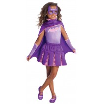 Batgirl Cape With Puff Hanger - Small (4-6)
