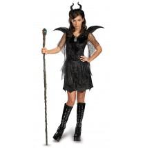 Maleficent Deluxe Black Tween/Teen Gown and Headpiece - Medium (7-8)