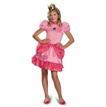Super Mario Brothers Tween Princess Peach Costume - Medium (7-8)