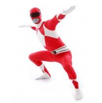 Power Rangers Red Adult Morphsuit - Medium
