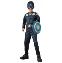 Retro Kids Captain America Winter Soldier - 2 in 1 Reversible Stealth Costume - Medium (8-10)