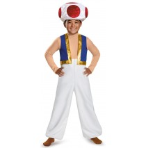 Super Mario Bros: Toad Deluxe Child Costume - S (4-6)