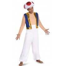 Super Mario: Toad Deluxe Adult Costume Plus - XL (42-46)