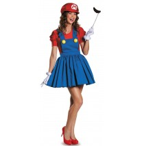 Super Mario: Mario w/Skirt Adult Costume - Small (4-6)
