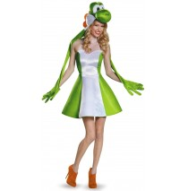 Super Mario Bros: Yoshi Female Adult Costume Plus - XL (18-20)