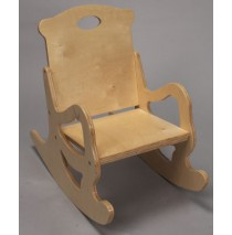 Child's Secured Puzzle Rocking Chair in Natural