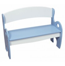 Blue & White Arched Back Kids Park Bench