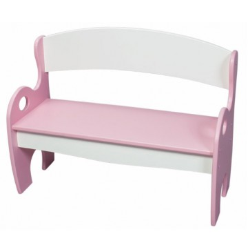 Pink & White Arched Back Kids Park Bench - 2070pw-360x365.jpg