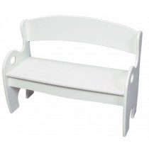 White Arched Back Kids Park Bench