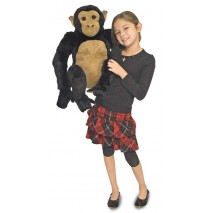 Melissa & Doug Chimpanzee Plush Stuffed Animal
