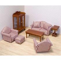 Melissa & Doug Victorian Dollhouse Living Room Furniture Set