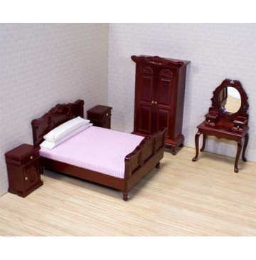 melissa amp doug victorian dollhouse beddroom furniture set