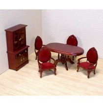 Melissa & Doug Victorian Dollhouse Dining Room Furniture Set