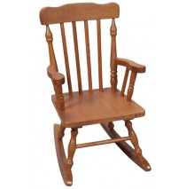 Child's Colonial Spindle Rocking Chair Honey