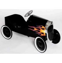 34 Classic Black Hot Rod Pedal Car