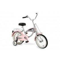 "Morgan Cycle 14"" Morgan Cruiser Bicycle with Training Wheels in Pink"