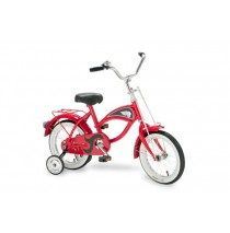 "Morgan Cycle 14"" Morgan Cruiser Bicycle with Training Wheels in Red"