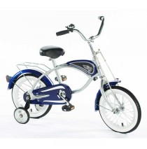 "Morgan Cycle 14"" Cruiser Bicycle with Training Wheels in Blue"