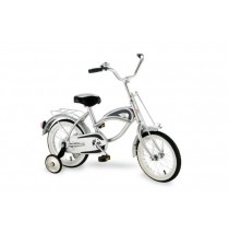 "Morgan Cycle 14"" Morgan Cruiser Bicycle with Training Wheels in Silver"