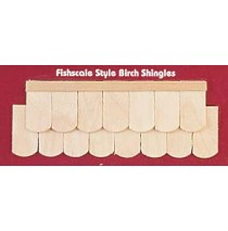 Wood Dollhouse Shingles - Fishscale Shingle