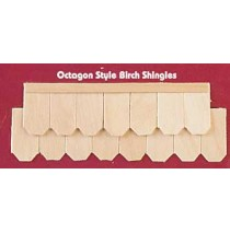 Wood Dollhouse Shingles - Octagon Shingle