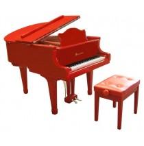 Schoenhut Pro Baby Grand 49 Key In Red