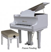 Schoenhut Pro Baby Grand 49 Key In White