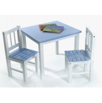 Lipper Table & Chair Set - Blue & White Set