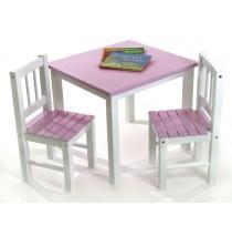 Lipper Table & Chair Set - Pink & White Set