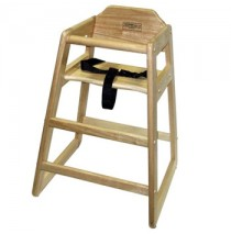Lipper Child's Wooden High Chair - Natural