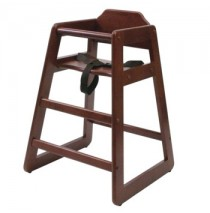 Lipper Child's Wooden High Chair - Cherry