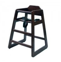 Lipper Child's Wooden High Chair - Espresso
