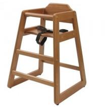 Lipper Child's Wooden High Chair - Pecan