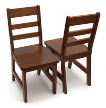 Lipper Kids Set of Two Chair - Walnut